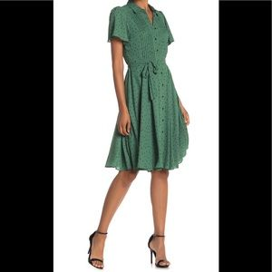 Nanette Lepore Dress-Fluter Sleeve Pin-tuck Pleat